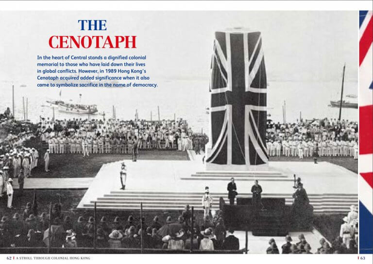 The Cenotaph unveiled in Statue Square 1923