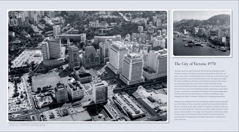 HK City of Victoria 1970 aerial view