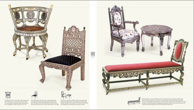 Moghul burmese chairs daybed