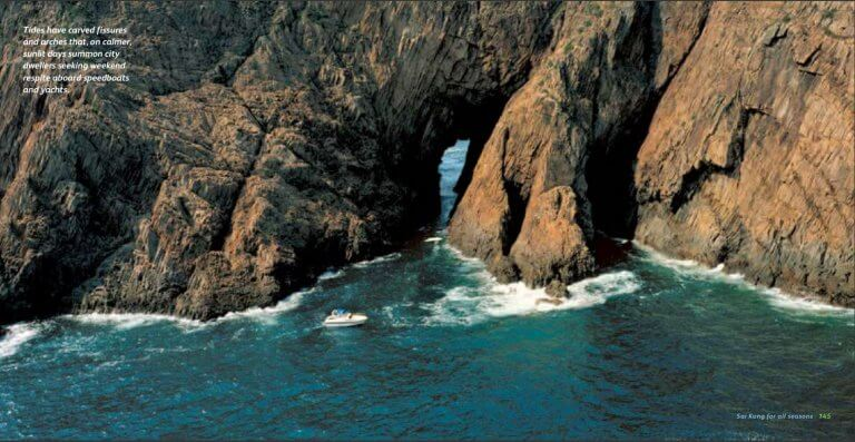 Sea caves and arches in Sai Kung